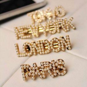 Paris Pearl Gold Hair Clip Pin Barette